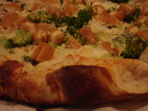 Chicken and broccoli pie.